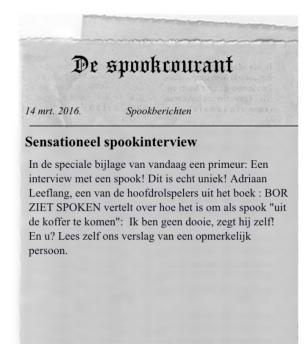 Bor ziet spoken - Krantenknipsel